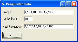 Program Visual Basic Untuk Pengurutan Selection Sort