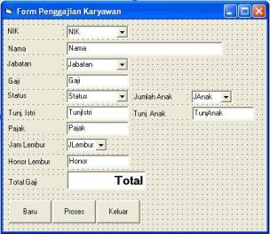 Program Visual Basic Penggajian Karyawan