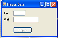 Program C Sharp Untuk Menghapus Data di Database SQL Server 2005