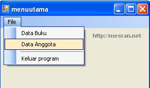 Merancang Menu Pada Program VB Net